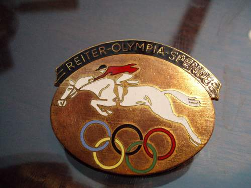 1936 Olympic Games Badge