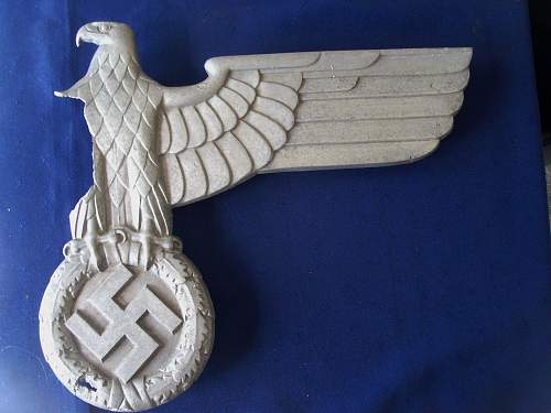 part WW2 German train eagle
