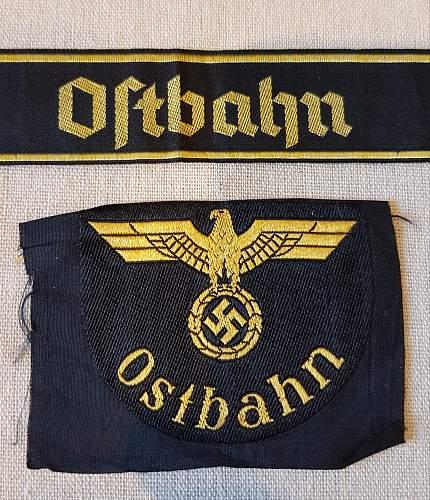 Ostbahn Cuff title & sleeve shield