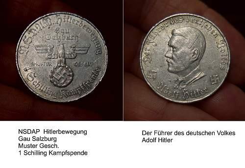 Token  NSDAP in Austria