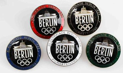 More 1936 olympic badges for sale