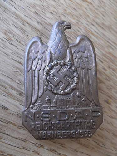 Reichsparteitag Badges