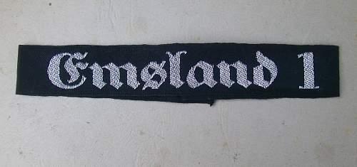 Emsland 1 cuff title
