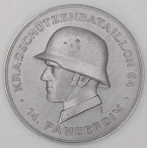 Original or fake? 64th Motorcycle Battalion 14th Panzer Division medal.