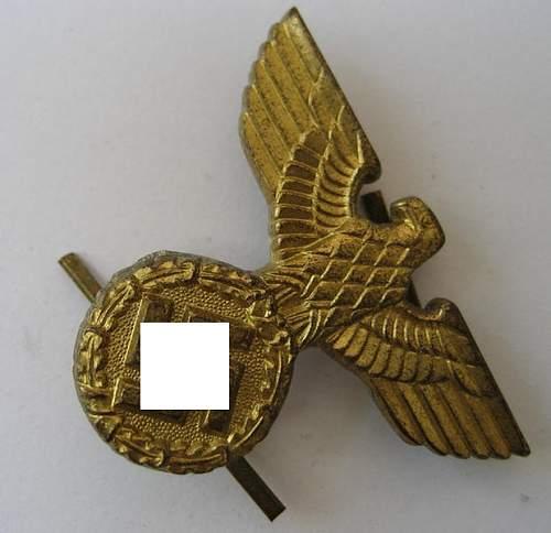 Third Reich cap eagles