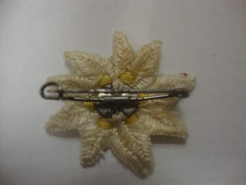 Edelweiss WHW pin