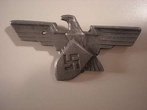 Factory Workers cap badge.