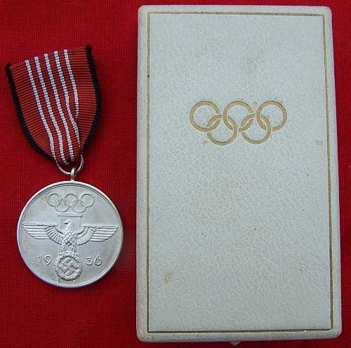 Cased Olympic Medal