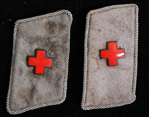 DRK German Red Cross collar tabs