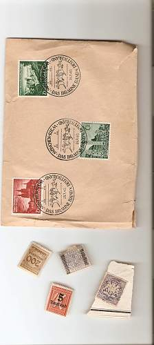 a block of 100 stamps