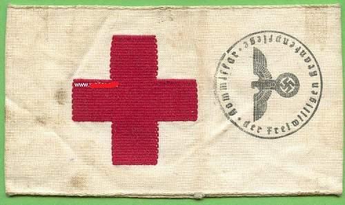 Help on Rotes Kreuz cloth gear