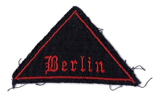 Berlin Railway Patch--Ughh