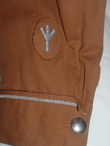 SA Medical Officer's Brown Shirt