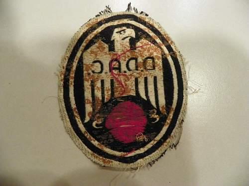 D.D.A.C. sport shirt patch