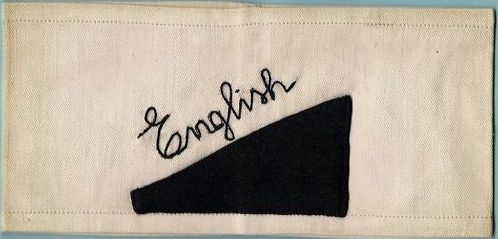 """""""Englisch"""" armband for the 1936 Olympics"""