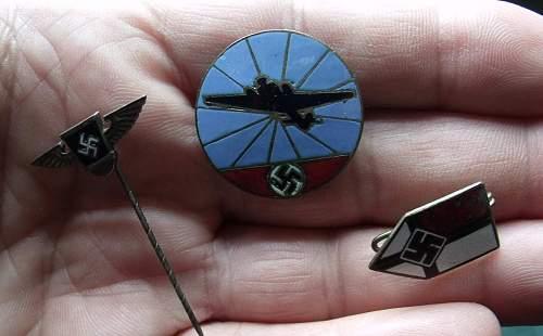 SA Reserve, Aircraft Reporting & Colonial Bund pins