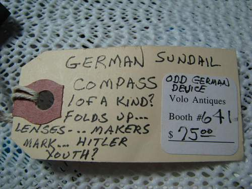 Strange item found at militaria show a while back.