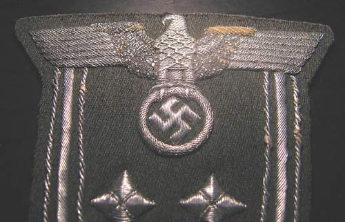 Large govt. Official sl. Patch - silver on gray