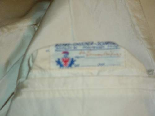 Sa  white summer tunic w/kepi,breeches