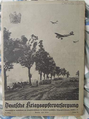 Click image for larger version.  Name:Deutsche Kriegsopferverforgung - Juli 1938 (front).jpg Views:122 Size:256.6 KB ID:289232