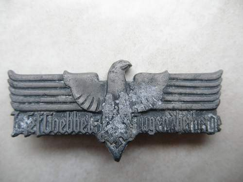 Joseph Goebbels Youth Hostel Contribution Badge?