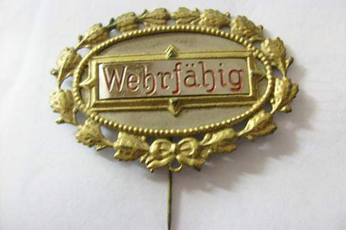 Wehrfarig pin-Fit for service