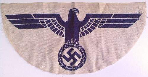 blue and white nazi patch
