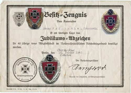 Click image for larger version.  Name:ReichsKriegerbundlot.jpg Views:115 Size:164.9 KB ID:324437
