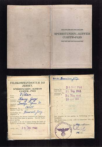 Feuerwehr armband and associated documents... with a difference!!