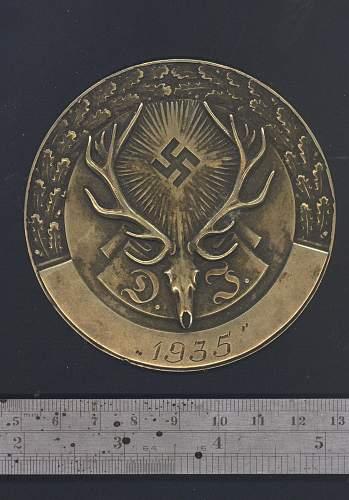 Deutsche Jagdverband 1935 Medallion