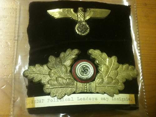 NSDAP Cap badges