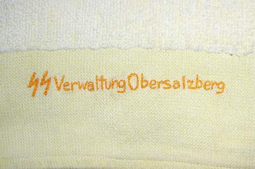 Towel from the SS verwaltung Obersalzberg