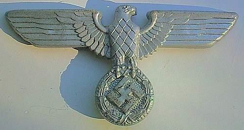 Political Cap Eagle - 1939 Pattern