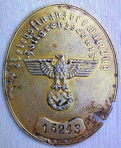 Reichsfinanzverwaltung-Zollgrenzschutz Armelschild