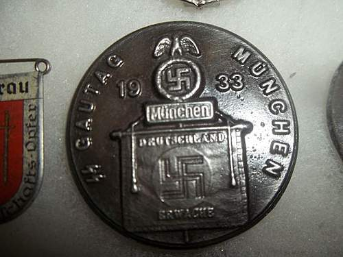 1933 SS Gautag in Munich badge