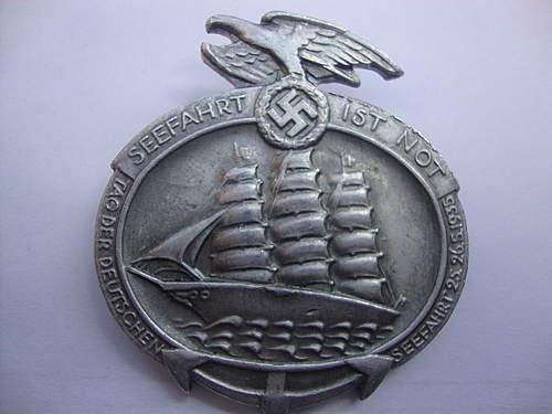 A couple of Seefahrt badges
