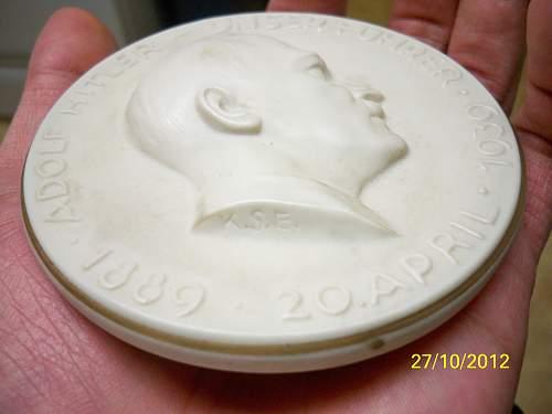 Hitler 50th Birthday plaque