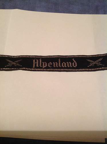 Alpenland: my first cuff title! what do you think?