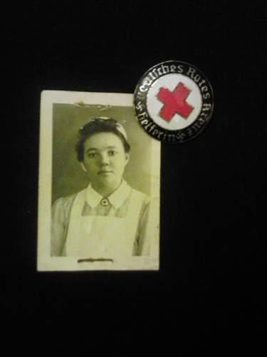 My new Red Cross Helpers Badge w/ Photo