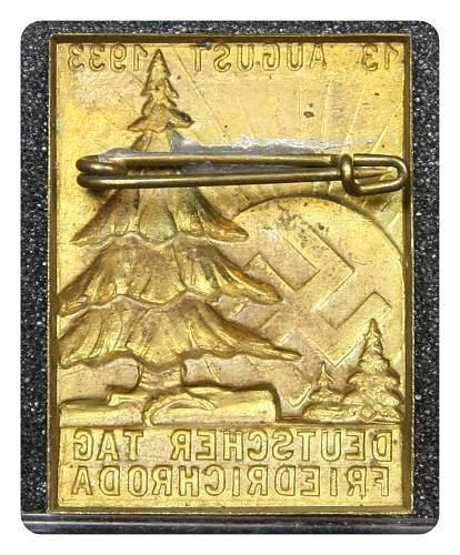 1933 Deutscher Tag Friedrichroda Tinnie