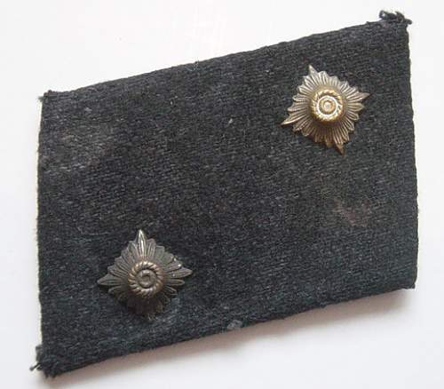 NSKK insignia removed from a Brownshirt