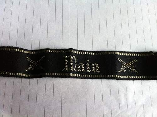 Main Cuffband or cuff title i know nothing about help needed please