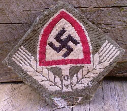 RAD woven badge