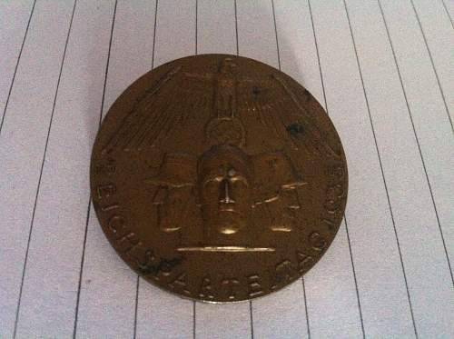 Reichsparteitag 1935 badge i purchased any info welcome