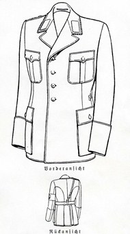 Black piped nsdap tunic. Used by the NSKK.