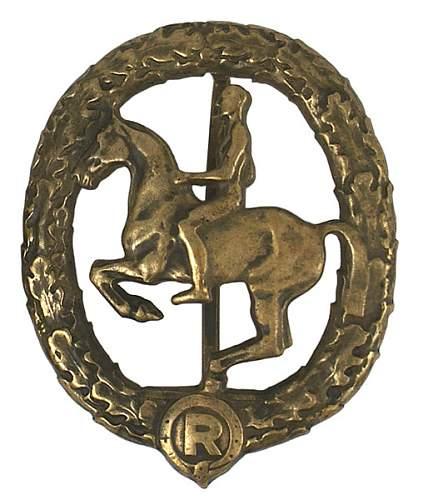 German Horse Riding Badge