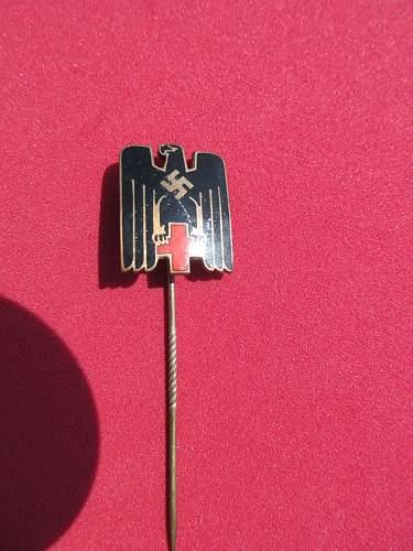 Red cross stick pin