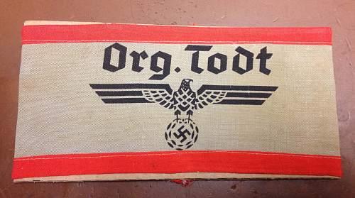 Org. Todt Armband
