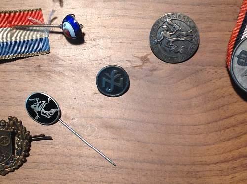 Various badges and pins