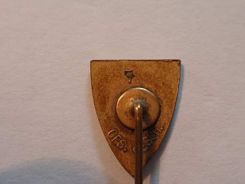 GERMAN VETERAN STICKPIN with lighthouse and swastika beneath